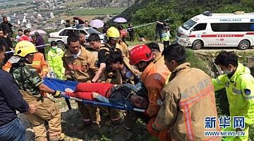 浙江温岭一农用车发生侧翻事故 致12死11伤