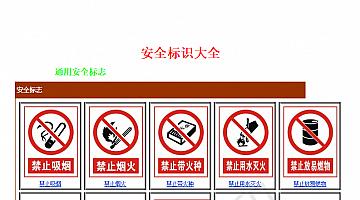 安全警示标志图集大全