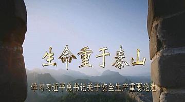 《生命重于泰山——学习总书记关于安全生产重要论述》电视专题片