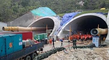 广东珠海石景山隧道透水事故救援:向隧道内推进598.5米